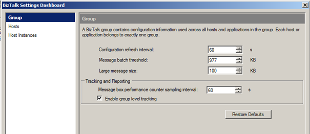 Enable BizTalk Tracking–The message was not found in the Message Box ...