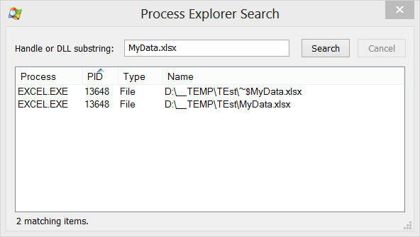 ToolTips: Unlocking Files with Sysinternals Process Monitor