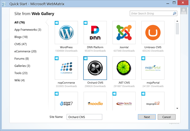 Getting Started With Orchard Cms Installing Orchard