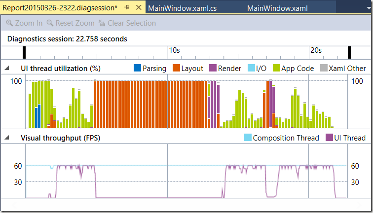 Profiling WPF Applications in Visual Studio 2015 with the